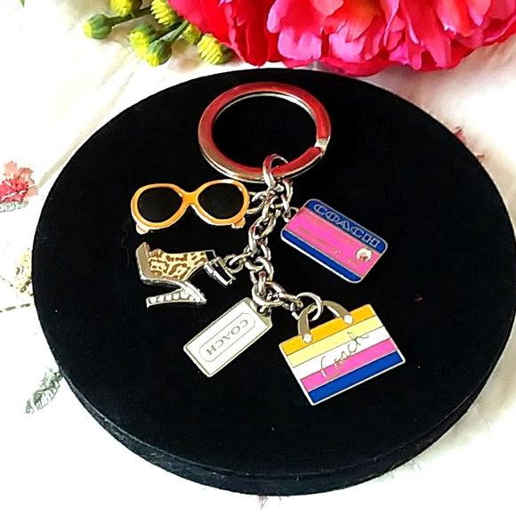 COACH multi color keychain/purse charm